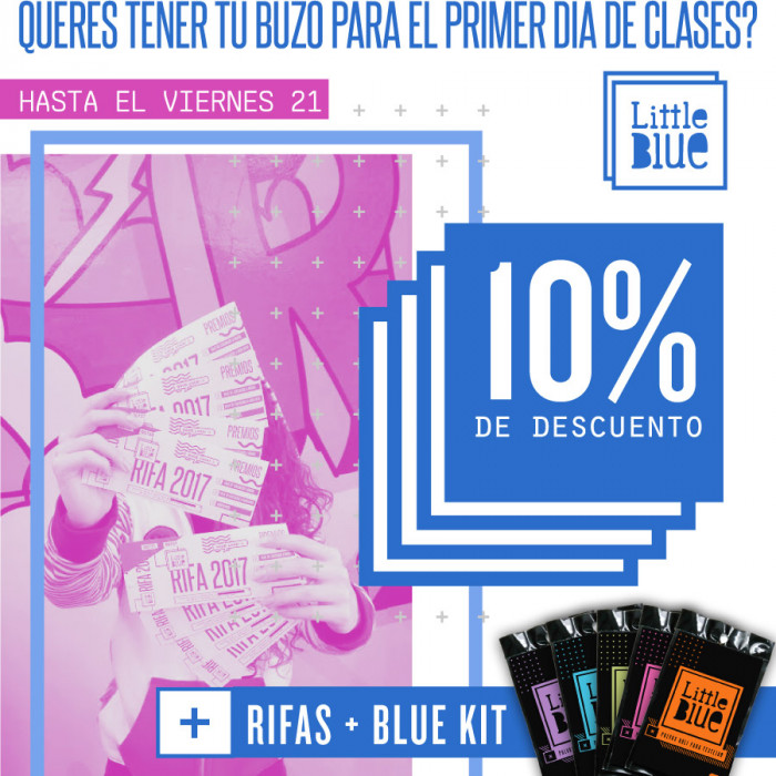 10% Off + Blue Kit + Rifas - 21 OCT